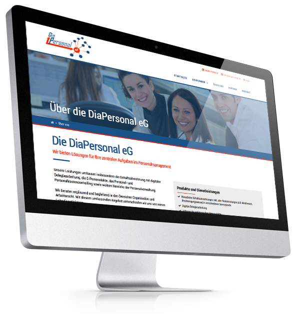 Webdesign-Referenz: Corporate Website DiaPersonal (1)