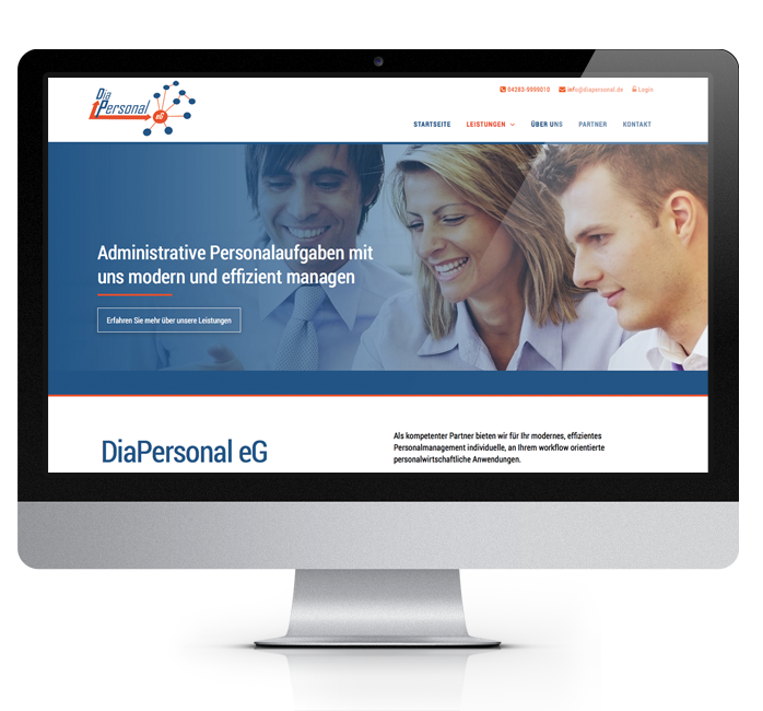 Webdesign-Referenz: Corporate Website DiaPersonal (2)