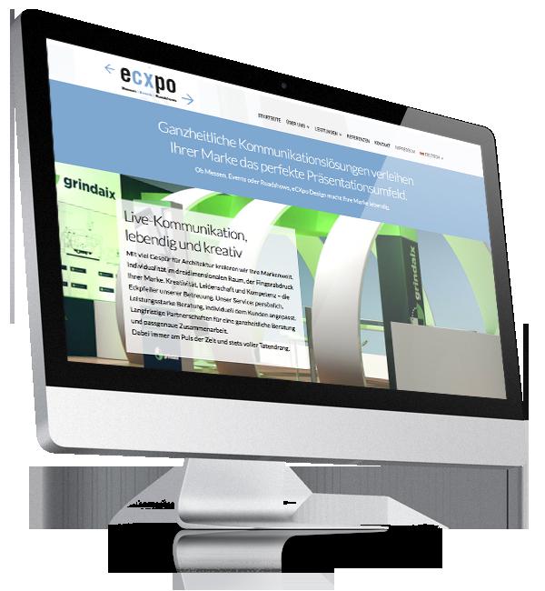 Webdesign-Referenz: Corporate Website Ecxpo (1)