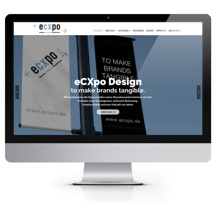 Webdesign-Referenz: Corporate Website Ecxpo (2)