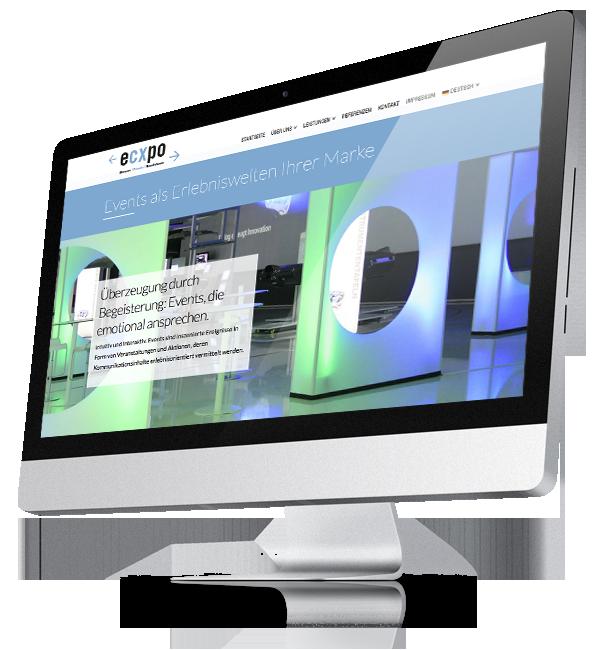 Webdesign-Referenz: Corporate Website Ecxpo (3)