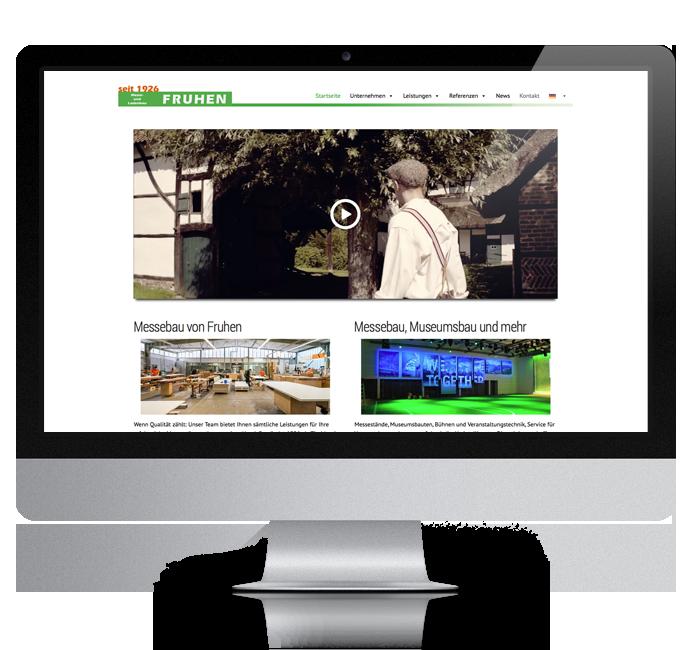 Webdesign-Referenz: Corporate Website Fruhen (2)
