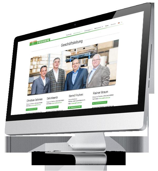 Webdesign-Referenz: Corporate Website Fruhen (3)