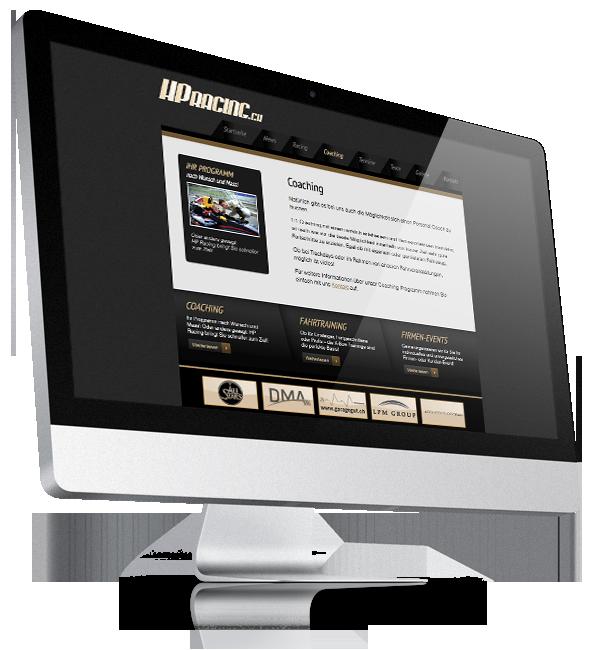 Webdesign-Referenz: Corporate Website HPRacing (1)