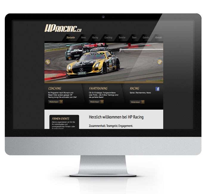 Webdesign-Referenz: Corporate Website HPRacing (2)