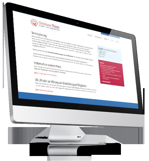 Webdesign-Referenz: Corporate Website Kinderärztin (1)