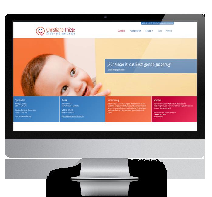 Webdesign-Referenz: Corporate Website Kinderärztin (2)