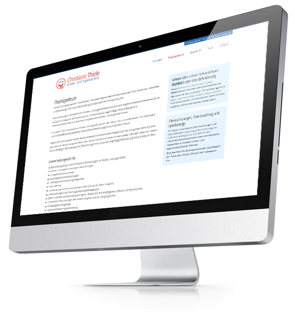Webdesign-Referenz: Corporate Website Kinderärztin (3)