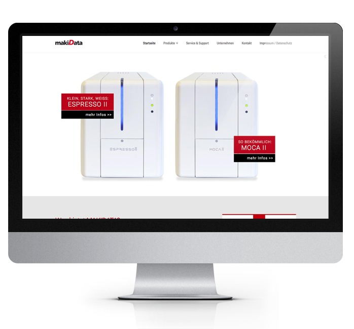 Webdesign-Referenz: Corporate Website MakiData (2)
