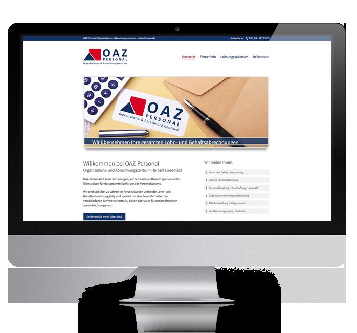 Webdesign-Referenz: Corporate Website OAZ (2)