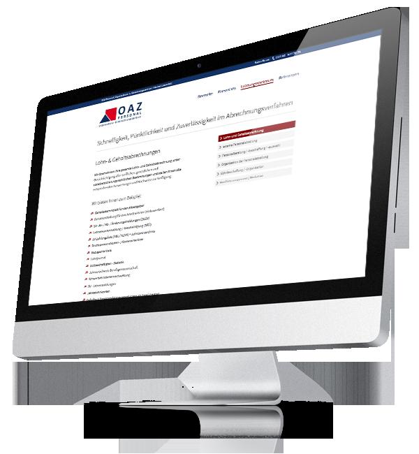 Webdesign-Referenz: Corporate Website OAZ (3)