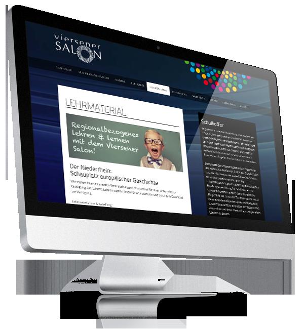 Webdesign-Referenz: Corporate Website Viersener Salon (1)