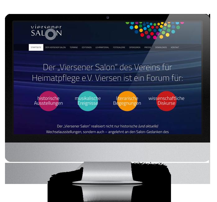 Webdesign-Referenz: Corporate Website Viersener Salon (2)