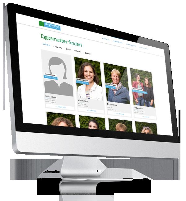 Webdesign-Referenz: Corporate Website Tagesmütter (1)
