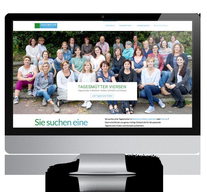 Webdesign-Referenz: Corporate Website Tagesmütter (2)