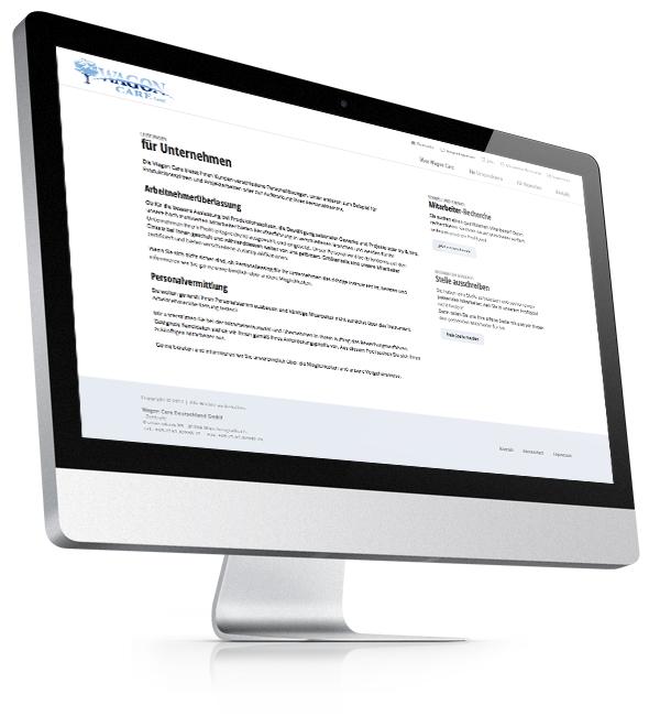 Webdesign-Referenz: Corporate Website Wagoncare (1)
