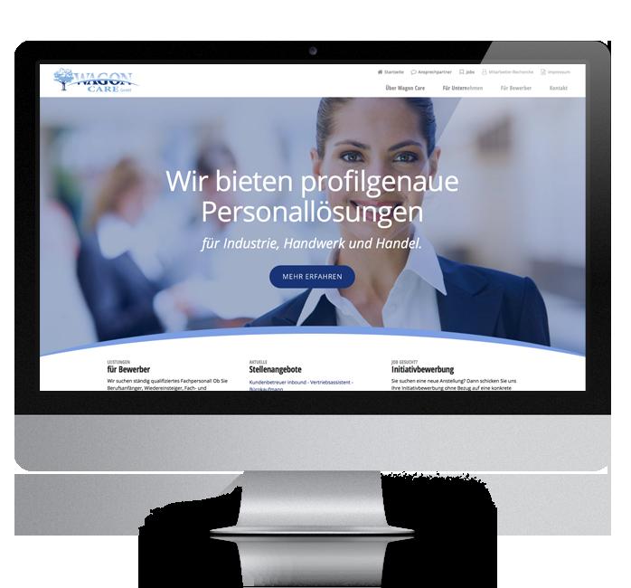 Webdesign-Referenz: Corporate Website Wagoncare (2)